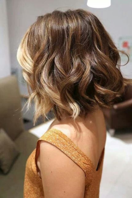 Layered Medium Ombre Hairstyle with Waves