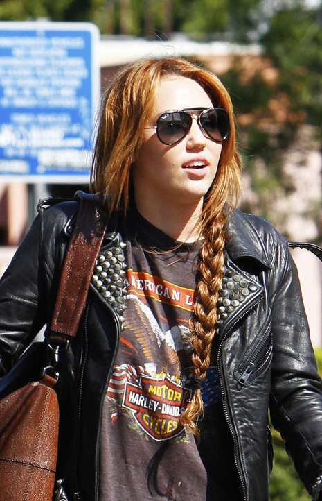Miley Cyrus Long Braided Hairstyles