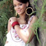 Rihanna Romantic Loose Ponytail Hairstyle