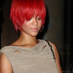 Rihanna Short Red Hairstyles: Trendy Short Straight Haircut for Women