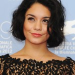 Vanessa Hudgens Short Black Wavy Bob Hairstyle