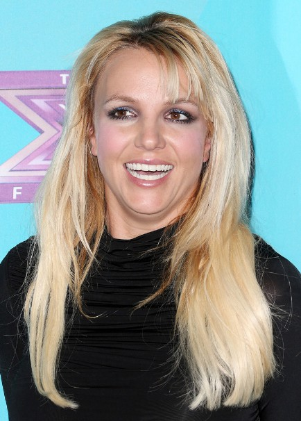 Britney Spears Layered Long Hairstyle With Bangs