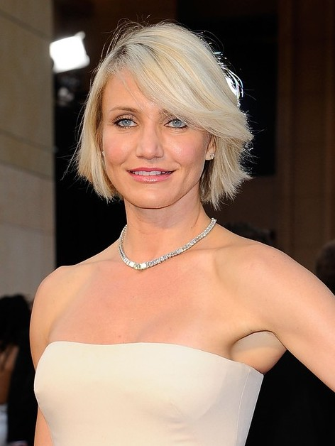 Cameron Diaz New Haircut Short Blonde Bob Hairstyle With