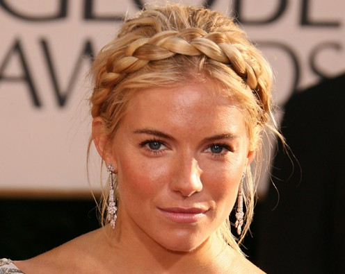 Celebrity Milkmaid Braids Hairstyle