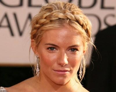 Celebrity Milkmaid Braids Hairstyle