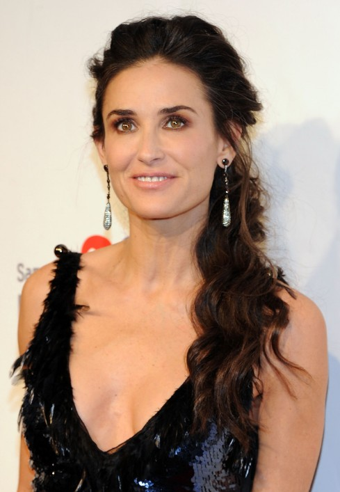 Demi Moore Loose Ponytail Hairstyle For Women Over 50