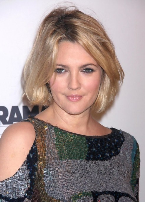 Drew Barrymore Short Hairstyle Sexy Bob Haircut For Women