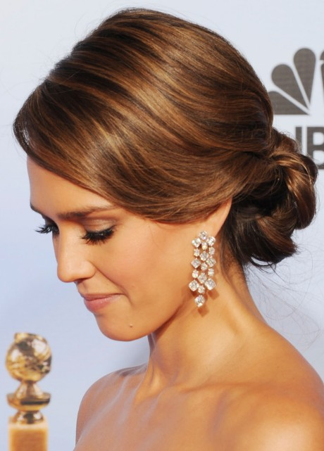 Jessica Alba Bobby Pinned Updo for 2013