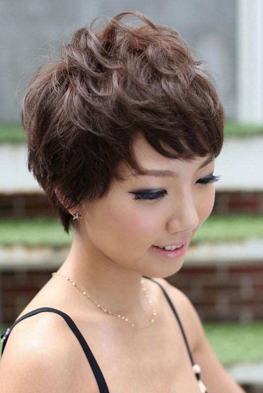 Cute Asian Pixie Haircut for Short Hair