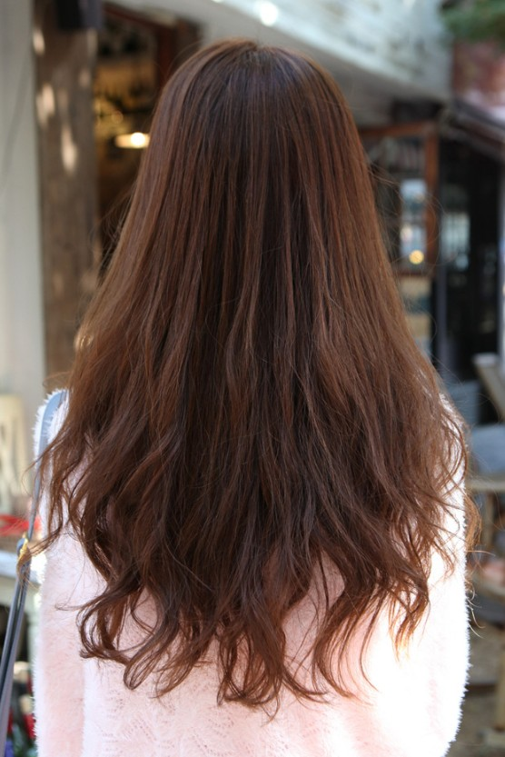 Back View of Asian Long Hairstyle