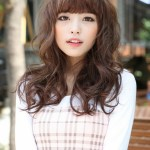 Cute Japanese Hairstyle with Bangs