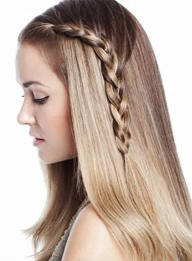 Cute One Sided Braid