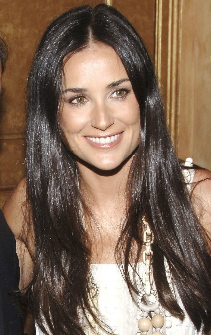 Demi Moore Sexy Long Hairstyle