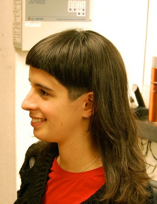dramatic long and short haircut with bangs  hairstyles weekly