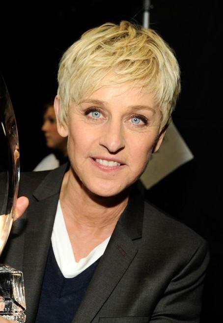 Ellen DeGeneres Short Boyish Haircut for Women Over 50