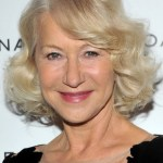 Helen Mirren Blonde Curly Bob Hairstyle for Women Over 60
