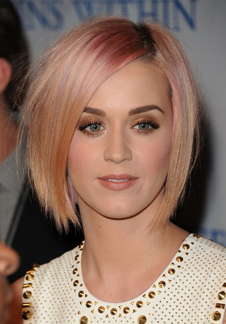 Katy Perry Short Sleek Bob Hairstyle