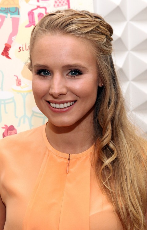 Kristen Bell French Braided Hairstyle