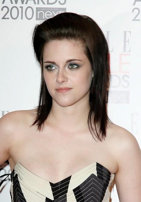 Kristen Stewart Edgy Medium Layered Hairstyle