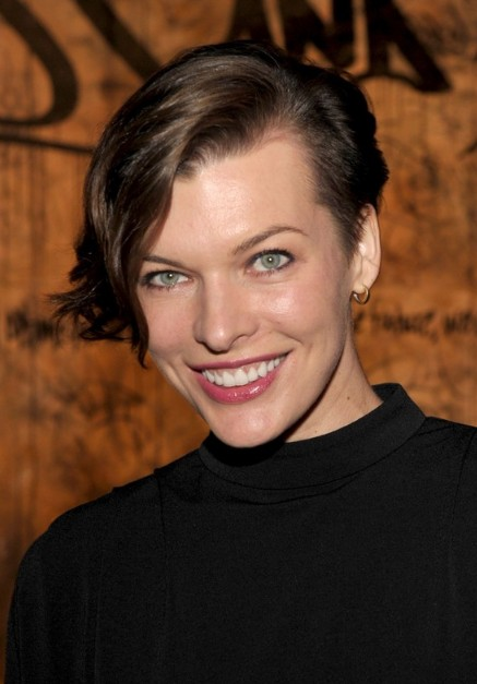 Milla Jovovich Short Asymmetric Hairstyle Hairstyles Weekly