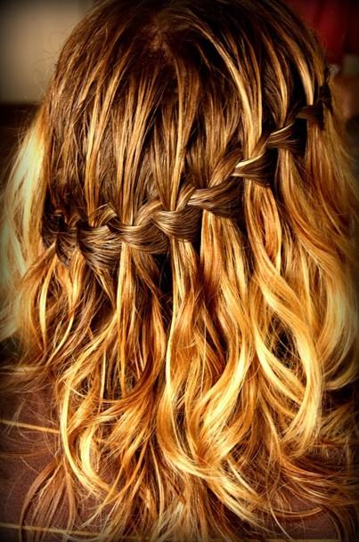 Waterfall Braid for Wavy Hair
