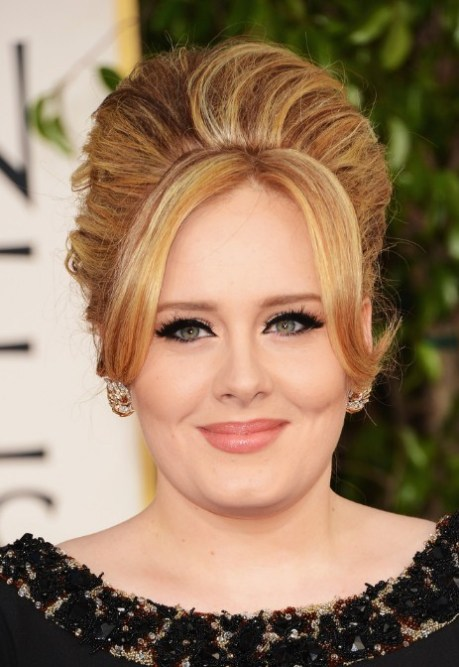 Adele Golden Globe Awards Hairstyle 2013 - Classic Beehive Hairstyle