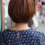Back View of Cute Korean Bob Haircut K-Pop hairstyles