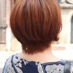 Back View of Short Auburn Bob Hairstyle