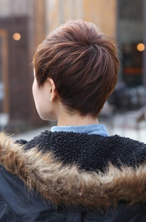 Back View of Short Layered Boyish Cut - 2013 Pixie Cut