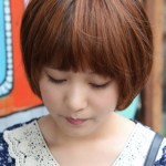 Cute Korean Bob Hairstyle with Blunt Bangs - Latest Korean Hairstyles
