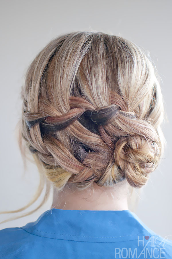 Double Waterfall Braid Updo Hairstyle - Romantic Hairstyles