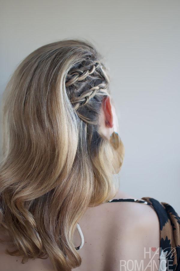 Faux Undercut Cornrow Comb Over Braid Side Part