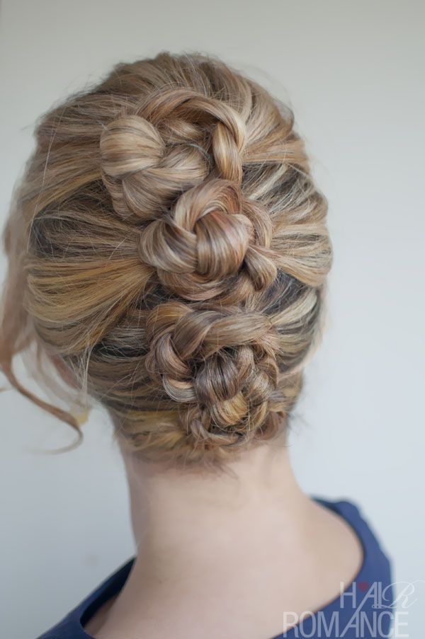 Braided French Roll Twist - Romantic French Twist Updo Hairstyle for Female