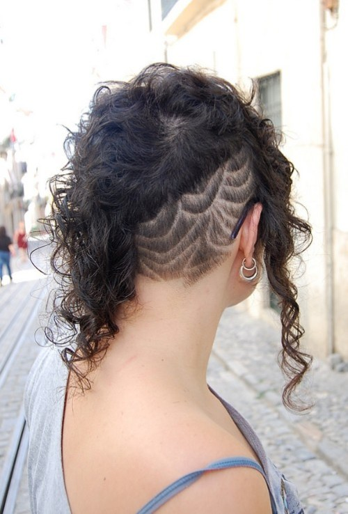 Futuristic, Pretty and Edgy Black Curly Hairstyle