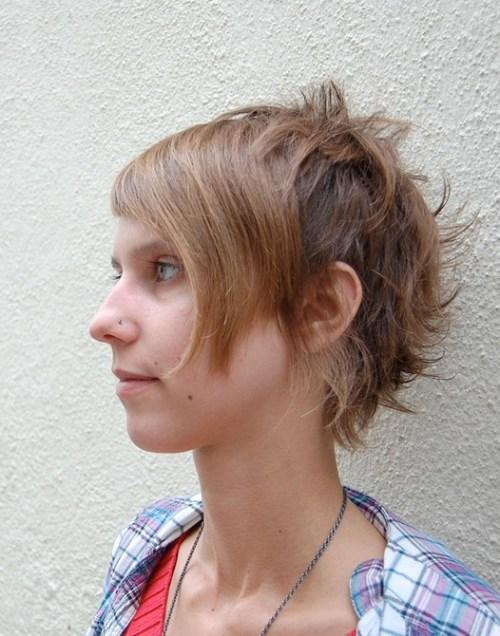 Hot Short Haircut for Women with Bangs