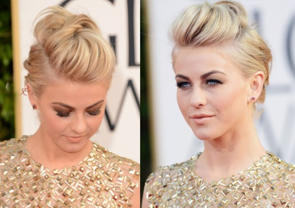 Julianne Hough Edgy Fauxhawk for Wedding - 2013 Golden Globe Awards Hairstyles