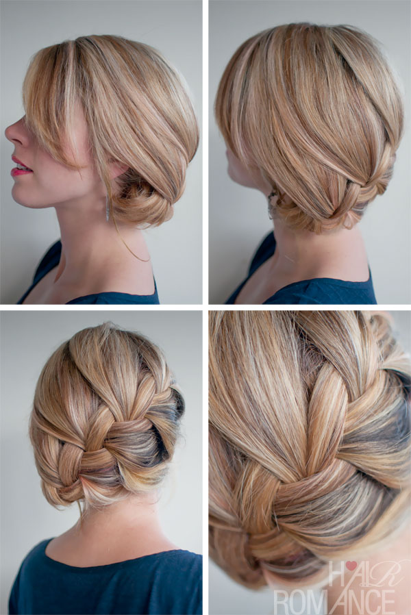 Perfect Valentine's Day Hairstyle - Loose French Braid with Sideway Twist