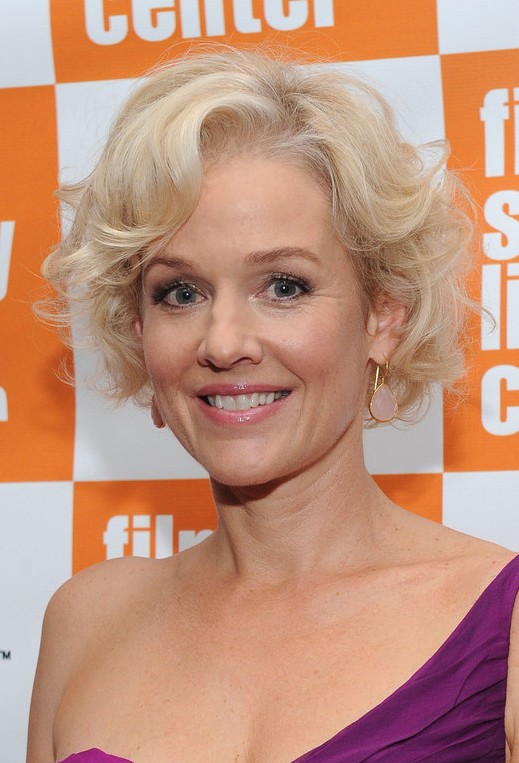 Penelope Ann Miller Short Blonde Soft Curly Hairstyle