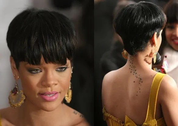 Rihanna bowl mushroom haircut