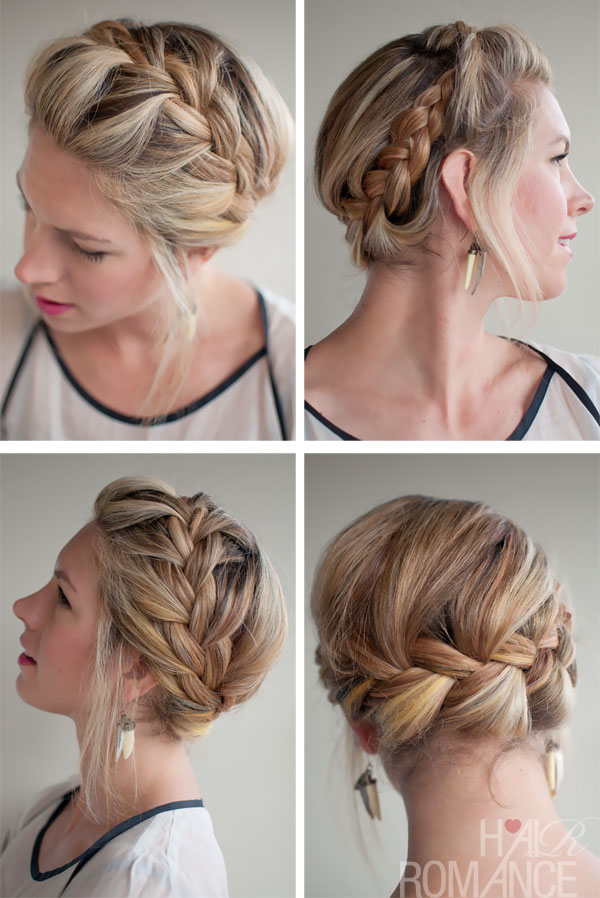 Romantic French Crown Braid for Wedding: 2013 - 2014 Hairstyle Trends