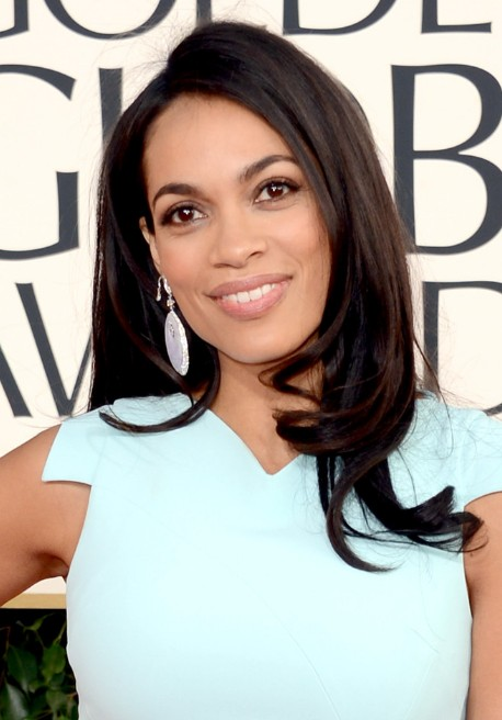 Rosario Dawson Long Sleek Hairstyles 2013 - Simple-but-Stunning, Relaxed Curls