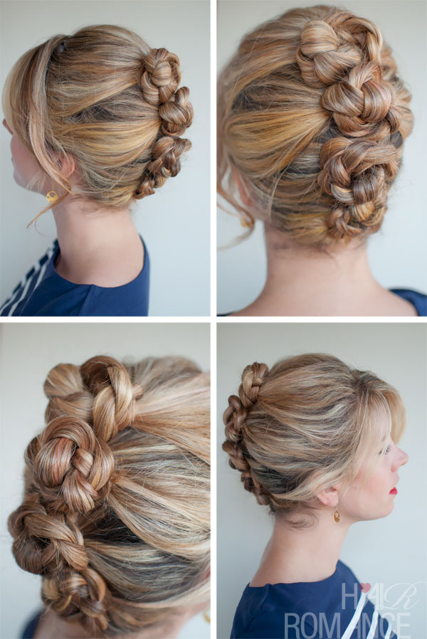 Sexy French Roll Twist & Pin Braid - Summer Hair Style Ideas