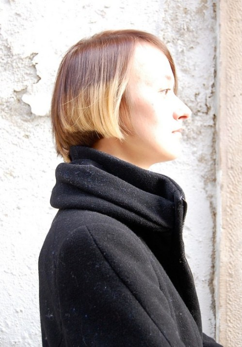 Side View of Trendy Short Straight Haircut