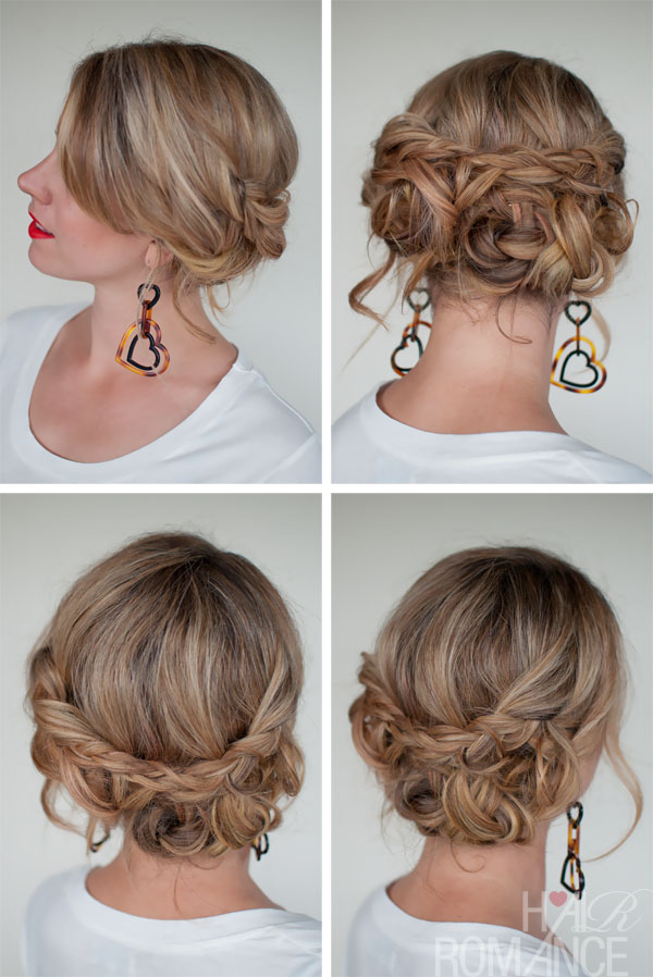 Simple Easy Casual Messy Braided Updo - The Best Braided Updos for Dating