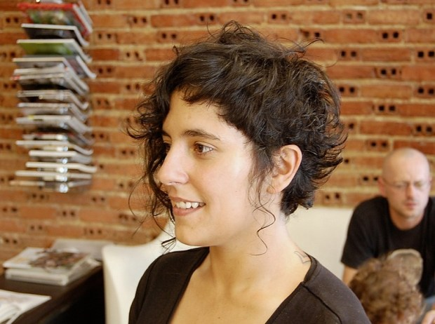 Soft Curly Hairstyle with Spiky Textures & Romantic Tendrils