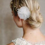 Back View of Low Braided Bun Updo - Back to School Hairstyles