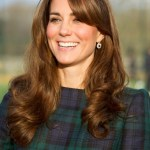 Kate Middleton Long Curly Hairstyle with Bangs