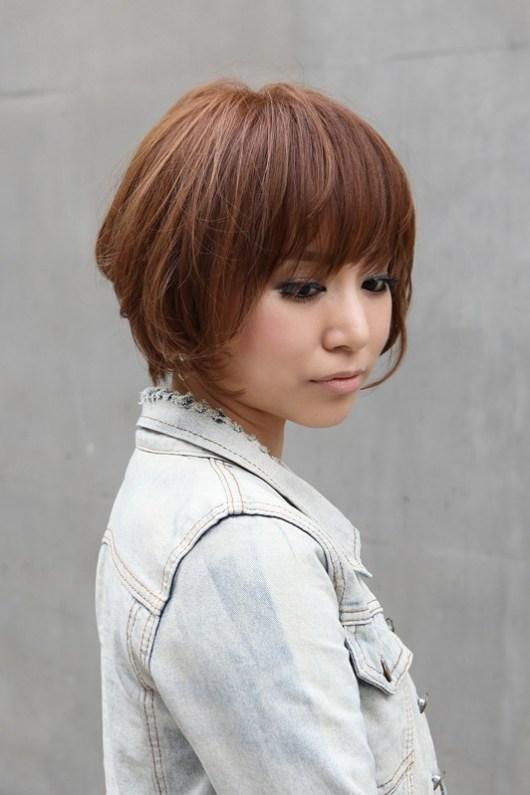 Popular Short Japanese Haircut with Bangs