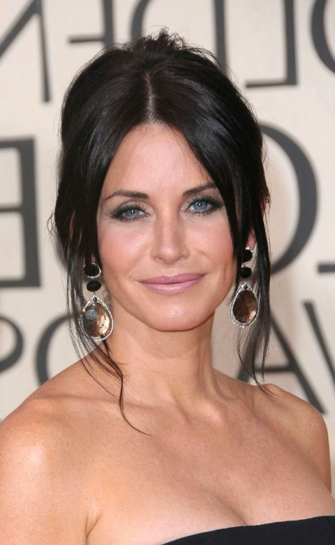 Courteney Cox updos - best casual hairstyles for women