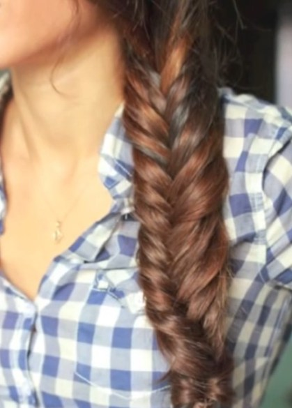 Easy Side Fishtail Braid for Women